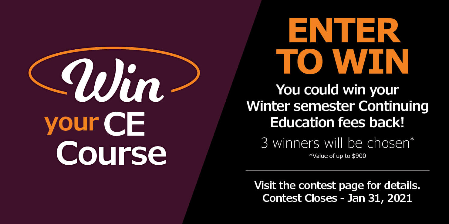 Win your CE Course
